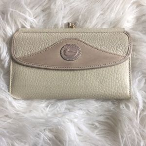 Ivory dooney and bourke wallet with inserts